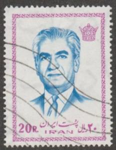 Persian stamp, scott# 1772  used, 20 r, Mohammad Reza Shah Pahlavi, #aoo69