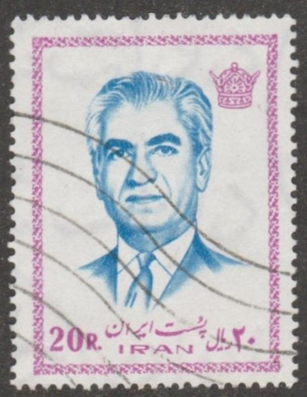 Persian stamp, scott# 1772  used, 20 r, Mohammad Reza Shah Pahlavi, #aoo69