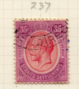Malaya Straights Settlements 1921 Early Issue Fine Used 35c. 280884