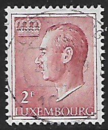 Luxembourg # 422 - Grand Duke Jean - 2F - used...(KlGr)