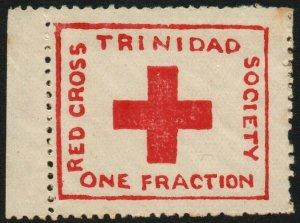 TRINIDAD & TOBAGO-1914 ½d Red Cross Label Sg 157 LIGHTLY MOUNTED MINT V48467