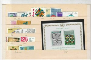 United Nations Mixed Mint Never Hinged Stamps ref R 18455