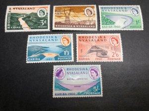 Rhodesia & Nyasaland Scott 172-77 Mint OG CV $20.30