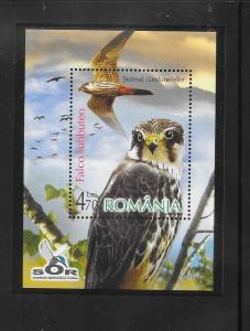 BIRDS - ROMANIA #4940-BIRD OF PREY  MNH