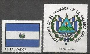 EL SALVADOR mint, Flag and Coat of Arms (no gum)