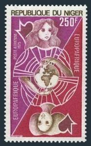 Niger C251,MNH.Michel 455. EUROPAFRICA-1975.European and African Women,Globe.