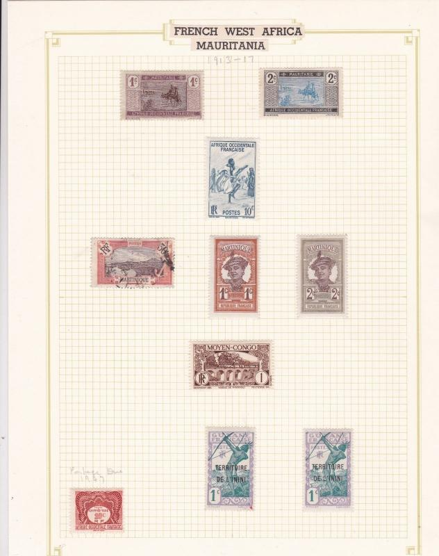French West Africa Mauritania Stamps Ref 14622