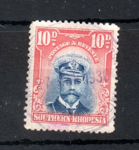 Southern Rhodesia 1924 10d Admiral fine used SG9 WS19171