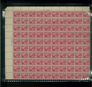 1929 United States Postage Stamp #681 Plate No. 19839 Mint Full Sheet