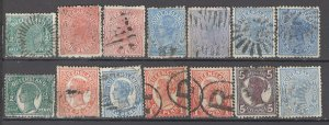COLLECTION LOT OF #985 AUSTRALIAN STATES QUEENSLAND 14 STAMPS 1890+ CLEARANCE
