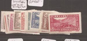 French Andorra Y&T 24-45 no 35a, no 40a MOG (8dcn)