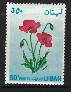 LEBANON 426 MOG FLOWERS J163