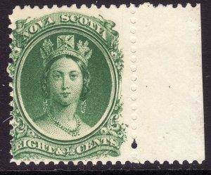 1860-63 Canada Nova Scotia Queen Victoria QV 8½¢ MMH Sc# 11a CV $15.00 Stk #4