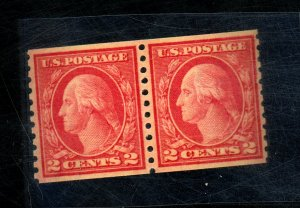 454 MINT Pair XF OG NH Cat$360