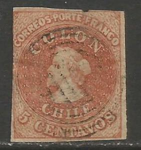 CHILE COLUMBUS 4 VFU SCARCE  S728