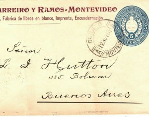 URUGUAY Cover 1901 ADVERT POSTAL STATIONERY Melanyl INK Books LIBRARY MA704