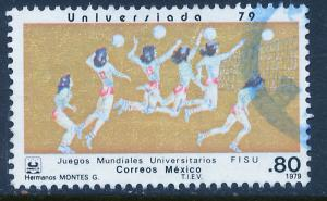 MEXICO 1187 Women's Volleyball University Games. Used. (811)