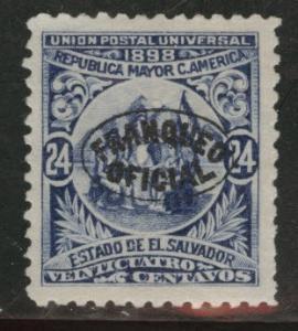El Salvador Scott o137 MNG 1898 official wmk 115