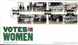 HERRICKSTAMP GREAT BRITAIN Sc.# 3696-3706 Votes for Women FDC Edinburgh