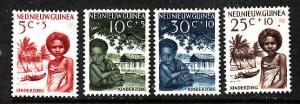 Netherlands New Guinea-Sc.#B11-B14-unused NH semi-postal set-Fight Infant Mortal
