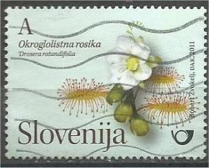 SLOVENIA, 2011 used A Flowers , Mi:SI 886