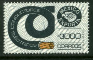 MEXICO Exporta 1503 $3000P Electrical Conductor Wmk Granite Paper 9 MNH