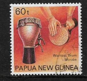 PAPUA  NEW GUINEA  748   USED WANTOAT DRUM  1990
