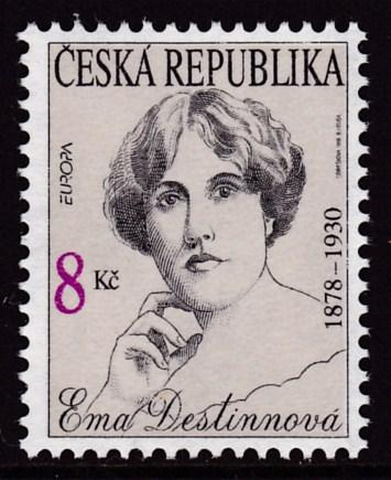 Czech Republic 1996 EUROPA Issue Ema Destinnova Singer  VF/NH