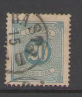Sweden Sc J17 1878 20 ore postage due  stamp used