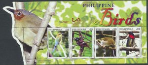 Birds Miniature sheet.      new from Philippines