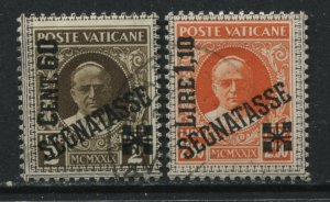 Vatican 1931 overprinted 60 cents and 1.10 lire Postage Dues used