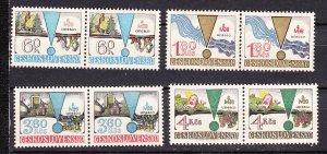 J28137 1979 czechoslovakia pairs set mnh #2245-8 unesco