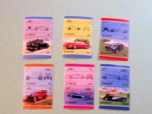 St. Vincent -906-11, MNH Set (Pairs). Automobiles. SCV - $7.00