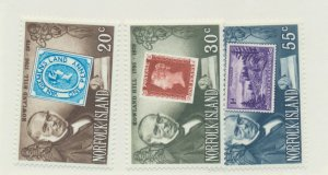Norfolk Island Scott #246 To 248, Sir Rowland Hill (Postal Innovator) Issue F...