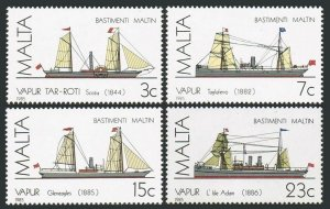 Malta 670-673,MNH.Michel 739-742. Ships 1985.Scotia paddle steamer,Gleneagles,