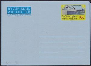 ST KITTS NEVIS 10c Technical College airletter / aerogramme fine unused....6081