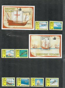 Turks+Caicos Islands Sc#883-892 M/NH/VF, Cv. $34.75