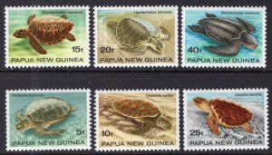 Papua New Guinea 592-597 Turtles MNH VF