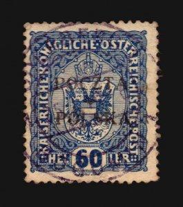 POLAND Polska overprint Austria Österreich stamp cancel Bohumín BOGUMIN Oderberg