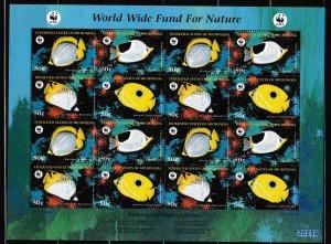 Micronesia - WWF - FISH - Sheetlet - MNH