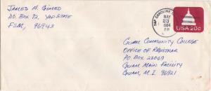 Caroline Islands 20c Capitol Dome Envelope 1984 Yap Caroline Islands 96943 to...