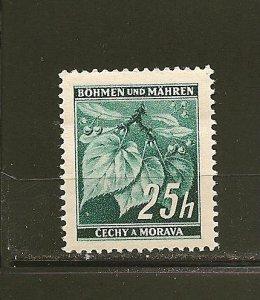 Bohemia and Moravia 23 Linden Leaves MNH