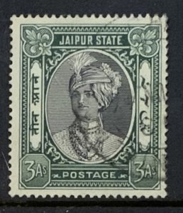 INDIA JAIPUR STATE 1932 3a SG63 USED.
