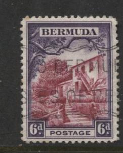 Bermuda - Scott 112 - Par La Ville Scene - 1936 - FU -  Single - 6d Stamp