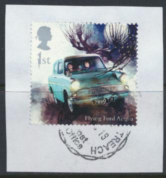 Great Britain Harry Potter 2018 1st Class Flying Ford Anglia see scan