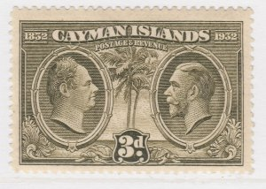 British Colony Cayman Islands 1932 3d MH* Stamp A22P19F8940