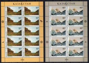 Kazakhstan 2001 MNH Stamps Mini Sheet Scott 339-340 Year of Mountains