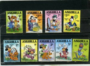 ANGUILLA 1981 DISNEY EASTER SET OF 9 STAMPS  MNH