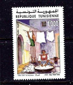 Tunisia 1313 MNH 2003 Women Washing Clothes