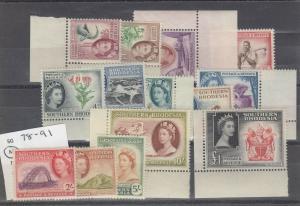 Southern Rhodesia QEII 1953 Set To £1 SG78/91 MVLH Margins J4889